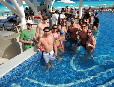 Anheuser Busch Capitol Beverage Sales Incentive Trip Hard Rock Hotel Cancun Mexico Pool Fun
