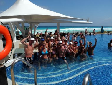 Anheuser Busch Capitol Beverage Sales Incentive Trip Hard Rock Hotel Cancun Mexico Pool Fun Two