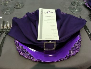 Annual Corporate Sales Incentive Trip Table Setting and Custom Menu Riviera Maya Mexico