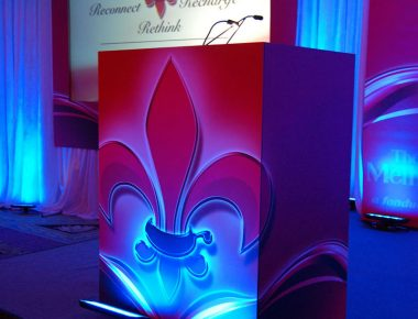 Annual Franchise Conference New Orleans Louisiana Ritz Carlton Hotel Stage Design Custom Podium