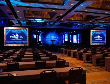 Annual Franchise Conference Orlando Florida Contemporary Hotel Ballroom Stage Set