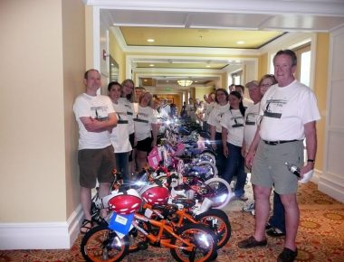Annual Meeting Clearwater Beach Florida Bicycle Building Volunteer Event