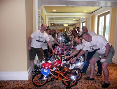 Annual Sales Meeting Group Charity Bicycle Building Event Sandpearl Resort Clearwater Beach