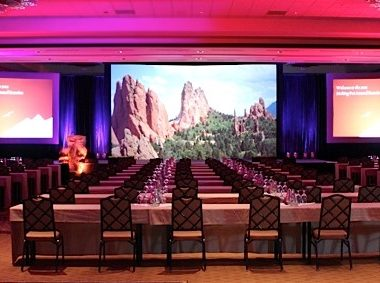 Conference Ballroom Stage Set Denver Colorado Omni Interlocken Hotel
