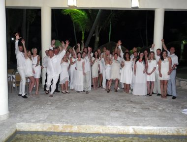 Minnesota Corporate Sales Incentive Trip Group Dinner Whtie Party Punta Cana Dominican Republic Iberostar Resort