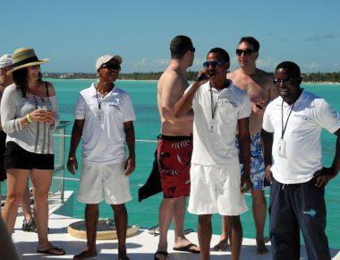 Minnesota Corporate Sales Incentive Trip Private Catamaran Sailing Excursion Punta Cana Dominican Republic