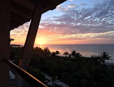 UNICO Resort and Spa at Riviera Maya Mexico Beautiful Sunrise